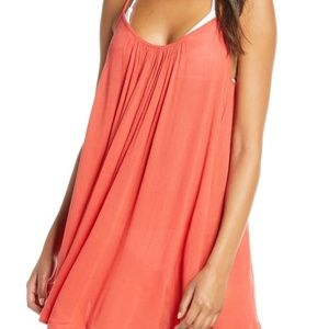 ** Elan Cover Up Slip Dress Strappy with Pockets